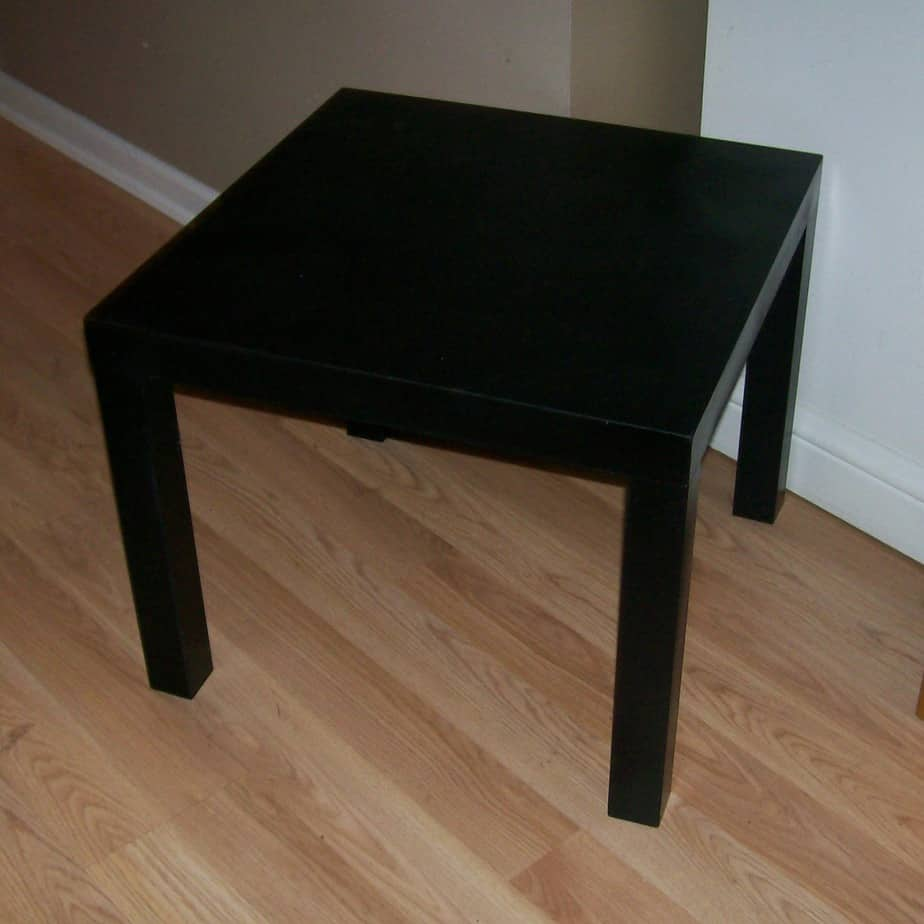 Ikea Table With Black Primer