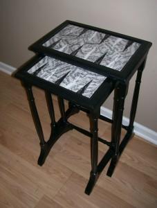 backgammon design nesting tables