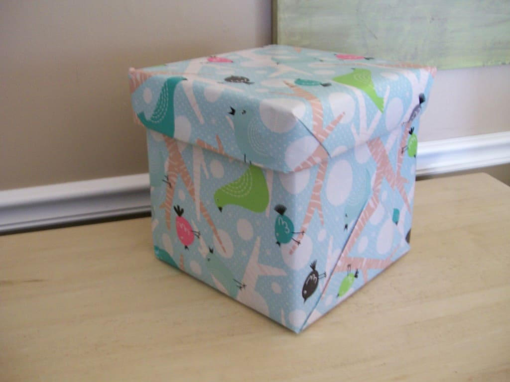 Easiest way to decorate a lidded storage box stow amp tellu