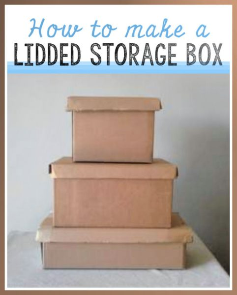Card board boxes with diy cardboard lids