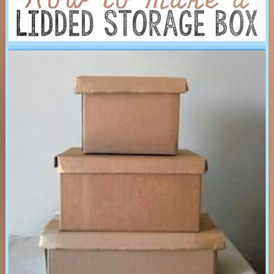 DIY Lidded Storage Box