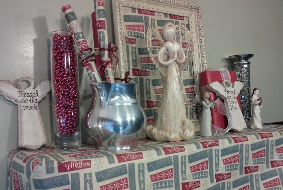 Ideas on how to decorate a Christmas mantle using your own decor
