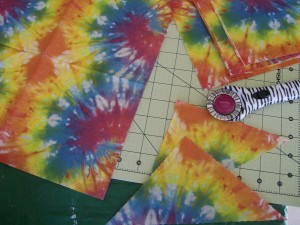 Tutorial on Napkin decoupage - tie dyed party napkins