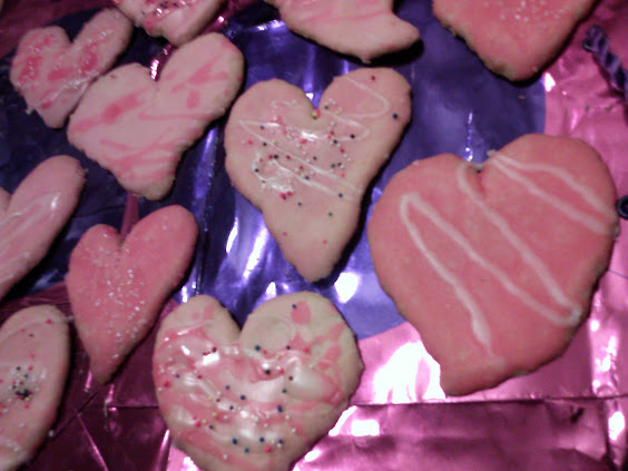 Valentine cookies heart shaped cookies