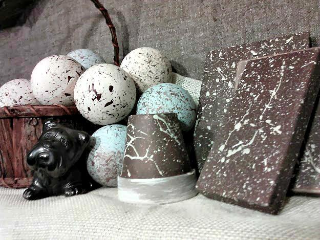 Speckled Easter… Hey Those Aren't Eggs…Splatter Paint ...