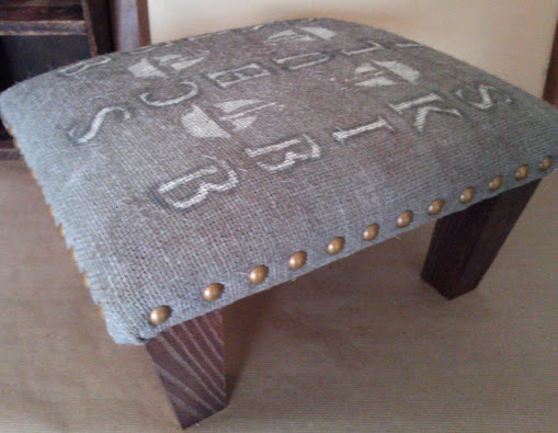 Hail to West Cork Ireland – Nail Head Foot Stool