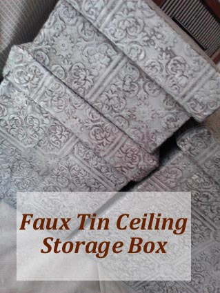 Faux Tin Ceiling Storage Box with Lid
