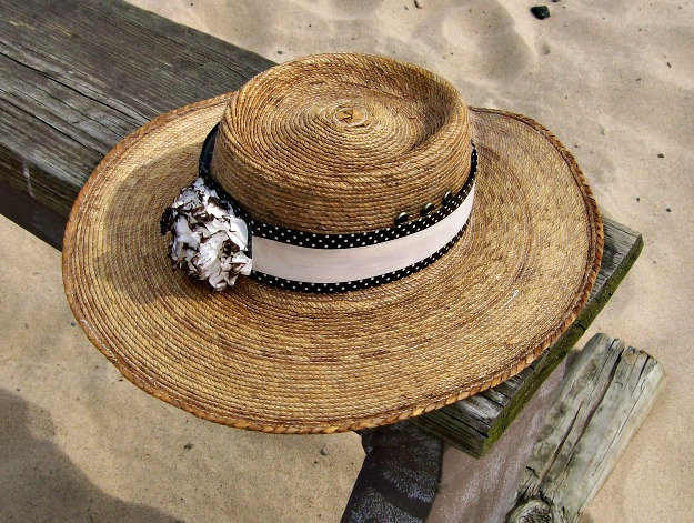 Beach Hat - Washi tape beach hat- StowandTellU