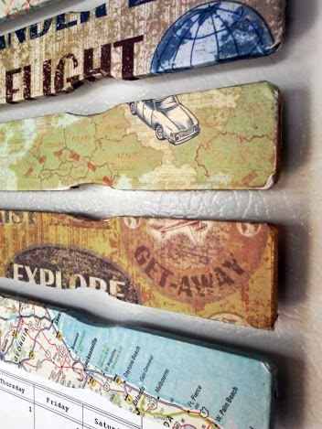 Decoupage Paint Stick Magnets