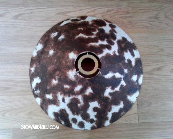 How to paint faux cowhide on a lamp shade   stowandtellu.com