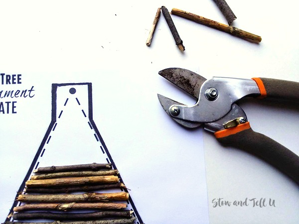 Christmas Tree Ornament Template and garden clippers | stowandtellu.com