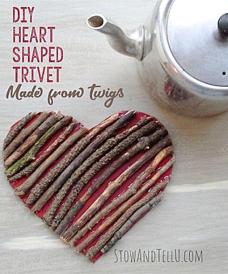 DIY Heart Shaped Trivet