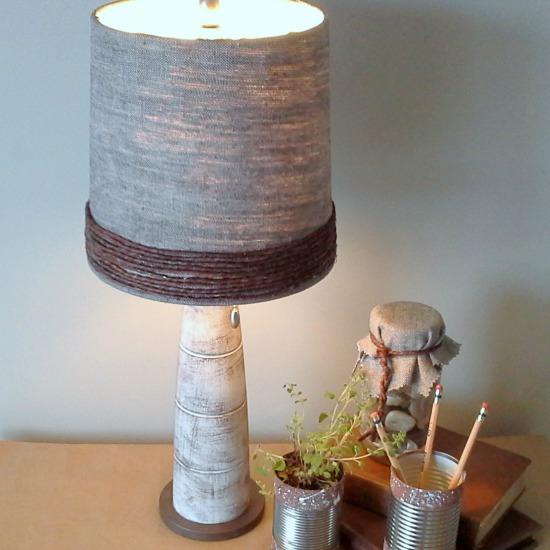 Grapevine Wire Lamp Revamp