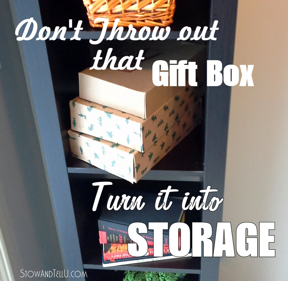 Turn a Gift Box into a Storage Box