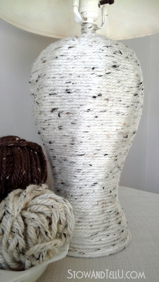 Yarn wrapped lamp-StowandTellU