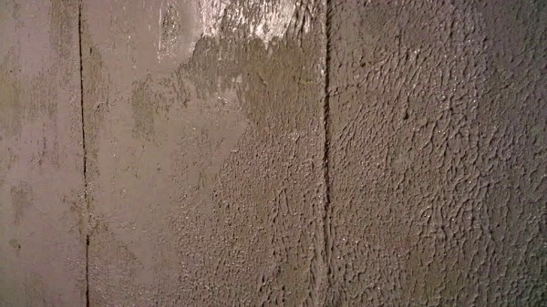 Add Texture To Walls : Knock down texture for a stone look on basement walls
