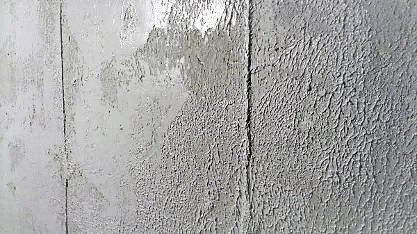 Homax-plaster texture applied-on basement wall