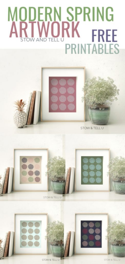Speckled Easter Egg Inspired Free Printable Art in Frames
