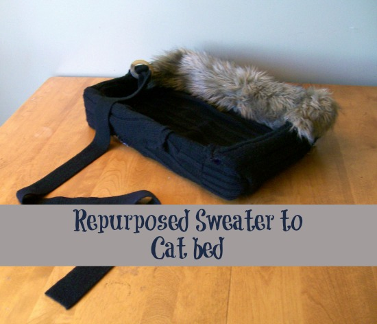 Garden Junk Ideas Galore 2014 Round Up: Turn An Old Sweater Into A Cat Bed