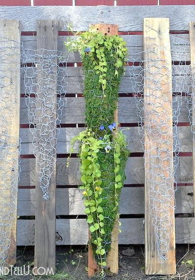 vertical-chicken-wire-pallet-wood-garden-container