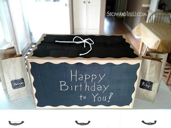 Chalkboard painted diy gift box | stowandtellu.com