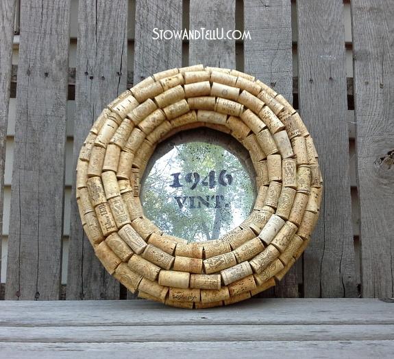 Cork Wreath: Wine Cork Wreath Upcyled As A Mirror