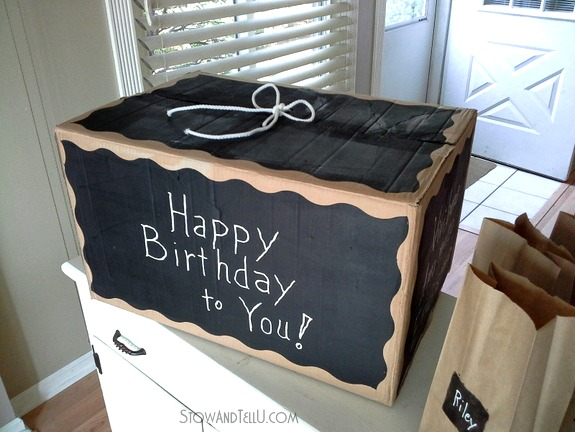 How to make a diy gift box with chalkboard paint and card board