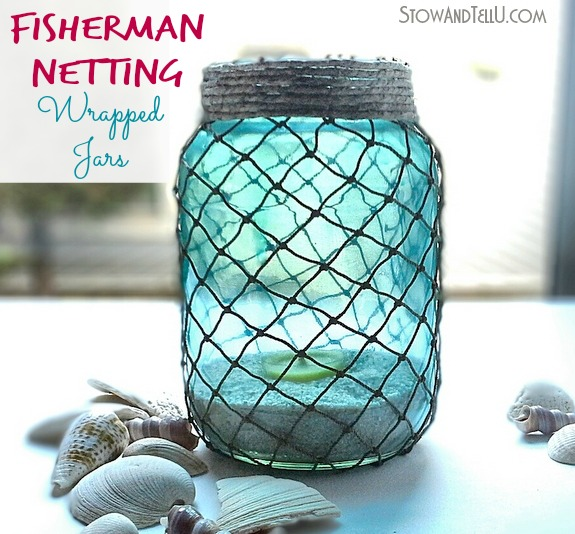 fisherman-netting-wrapped-jars-how-to-at-stowandtellu.com