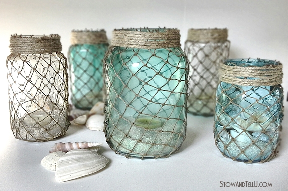 upcyled-jars-wrapped-with-fisherman-netting