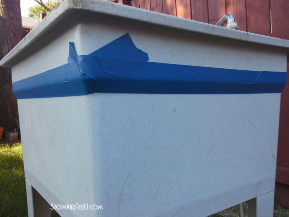 Spray Painted Laundry Tub