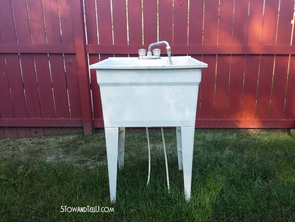 Laundry Tub Plastic : Spray Painted Laundry Tub {and a Basement Ceiling Sneak Peak}