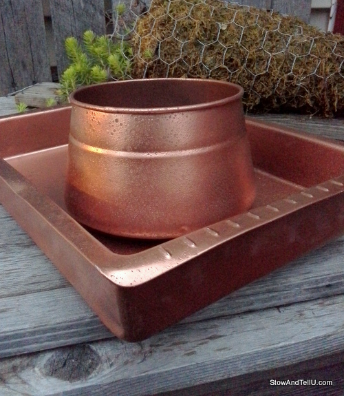 Easy Faux Hammered Copper Paint Technique Stow Amp Tellu