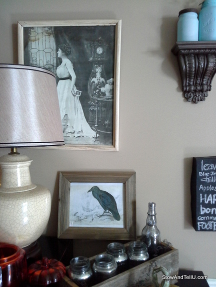 vintage-prints-halloween-decor, StowAndTellU.com