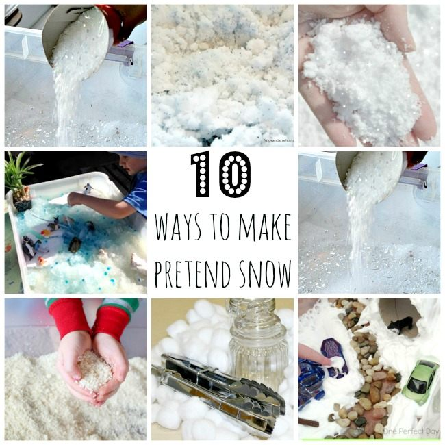 11 ways to make your own faux snow stow tellu for Fake snow recipe for crafts