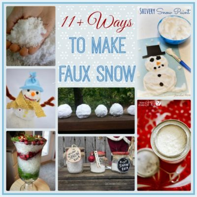 11+ Ways to Make Your Own Faux Snow