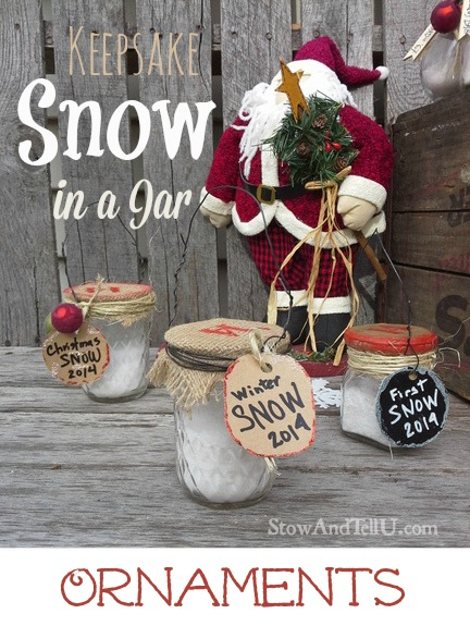 Faux Snow in a Jar Ornaments | Christmas ornament craft that kids will love | http://www.stowandtellu.com