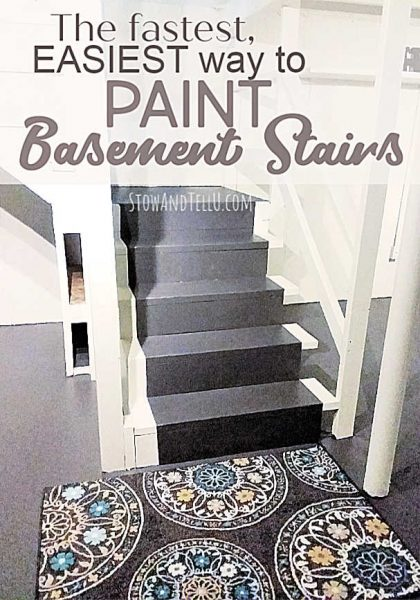 Fast,easy way to paint basement stairs