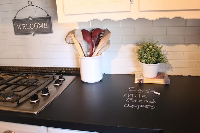 5 diy rustic faux countertops-chalkboard-painted-countertop-marchorchid-blogspot