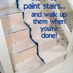 how-to-paint-stairs-and-not-get-trapped-at-the-bottom-whilte-the-paint-dries-http://www.stowandtellu.com