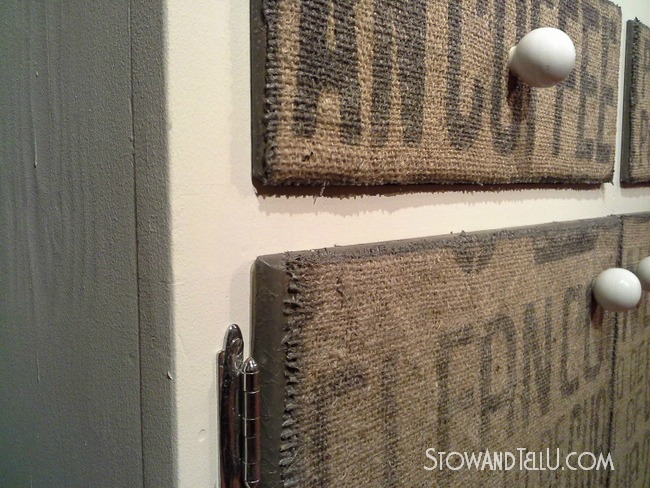 diy-burlap-covered-doors-drawers-http://www.stowandtellu.com
