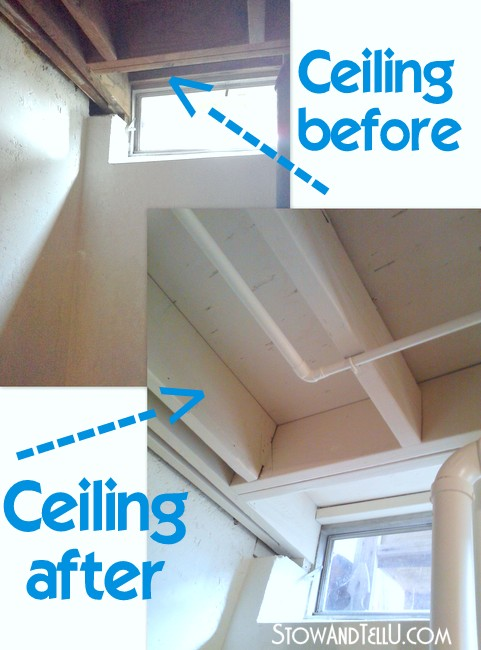 Tips for painting an exposed basement ceiling stow tellu for Tips for painting ceiling