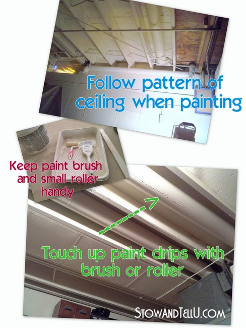 Tips For Painting An Exposed Basement Ceiling Stow Amp Tellu