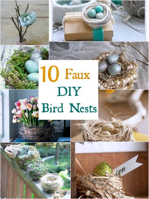 10 Diy Faux Bird Nests