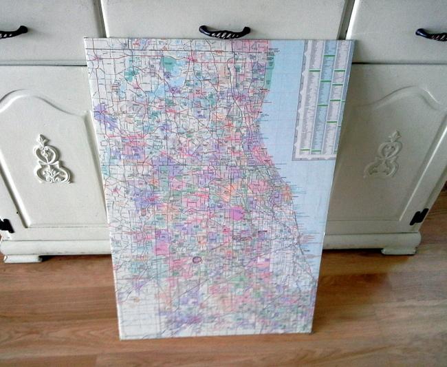 map-covered-foam-board