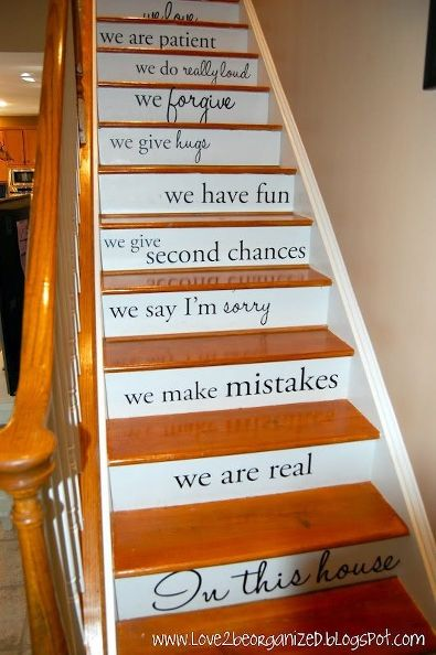 words-on-stairs