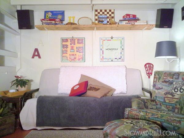 diy-over-the-couch-shelf-basement-gameroom-storage-https://stowandtellu.com