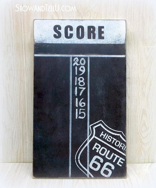 route-66-chalkboard-diy-dartboard-scoreboard-https://stowandtellu.com
