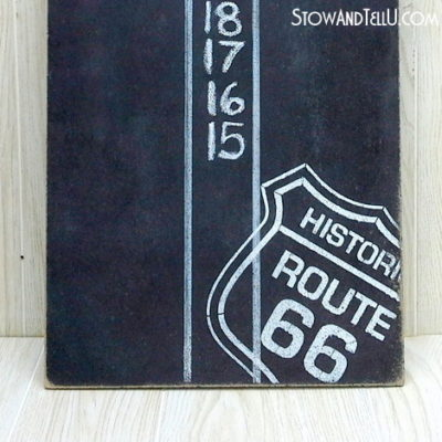 Route 66 DIY Dartboard Scoreboard