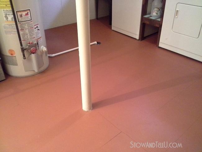 vinyl-floor-painted-basement-http://www.stowandtellu.com