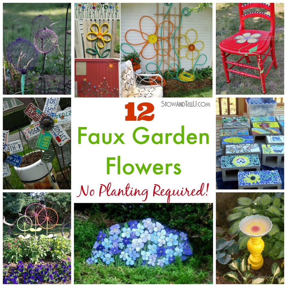 flower garden ideas illinois 12 faux garden flowers no planting required stowtellu - Flower Garden Ideas Illinois